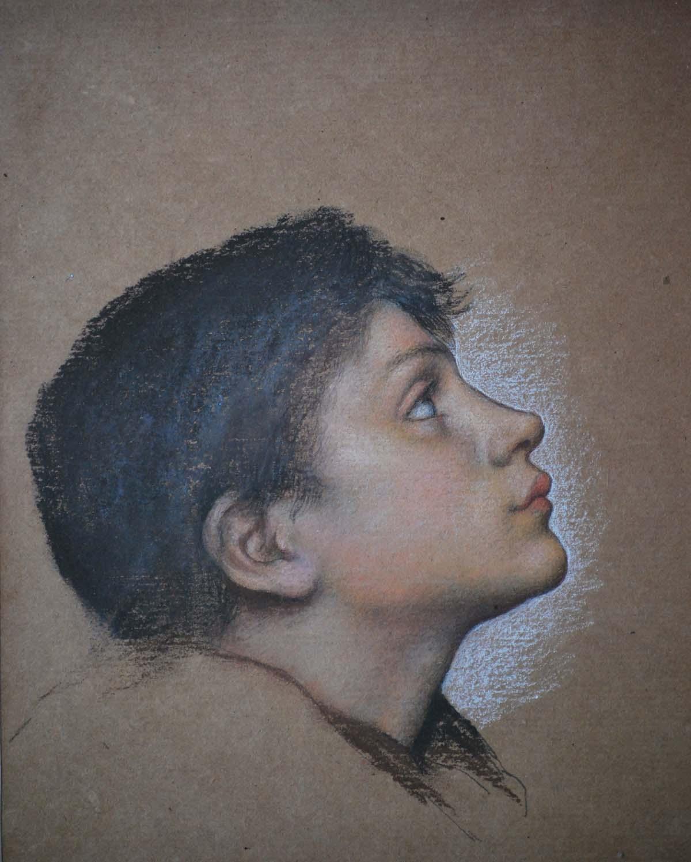 watercolour sketch of an adolescent boy