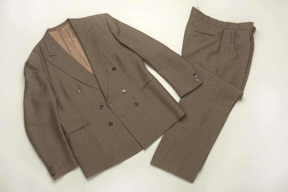 photo of a two piece double breasted suit