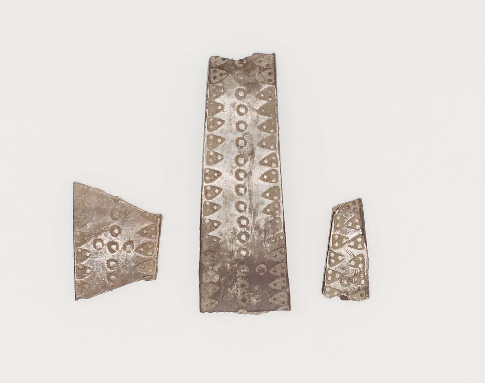 cut silver fragments