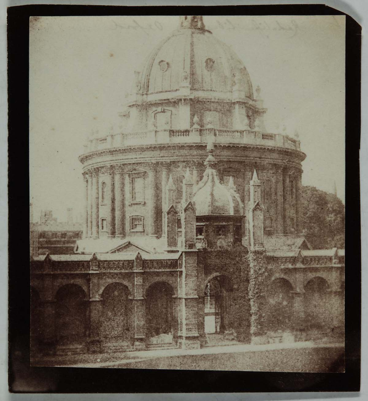 black and white photo of a domed building