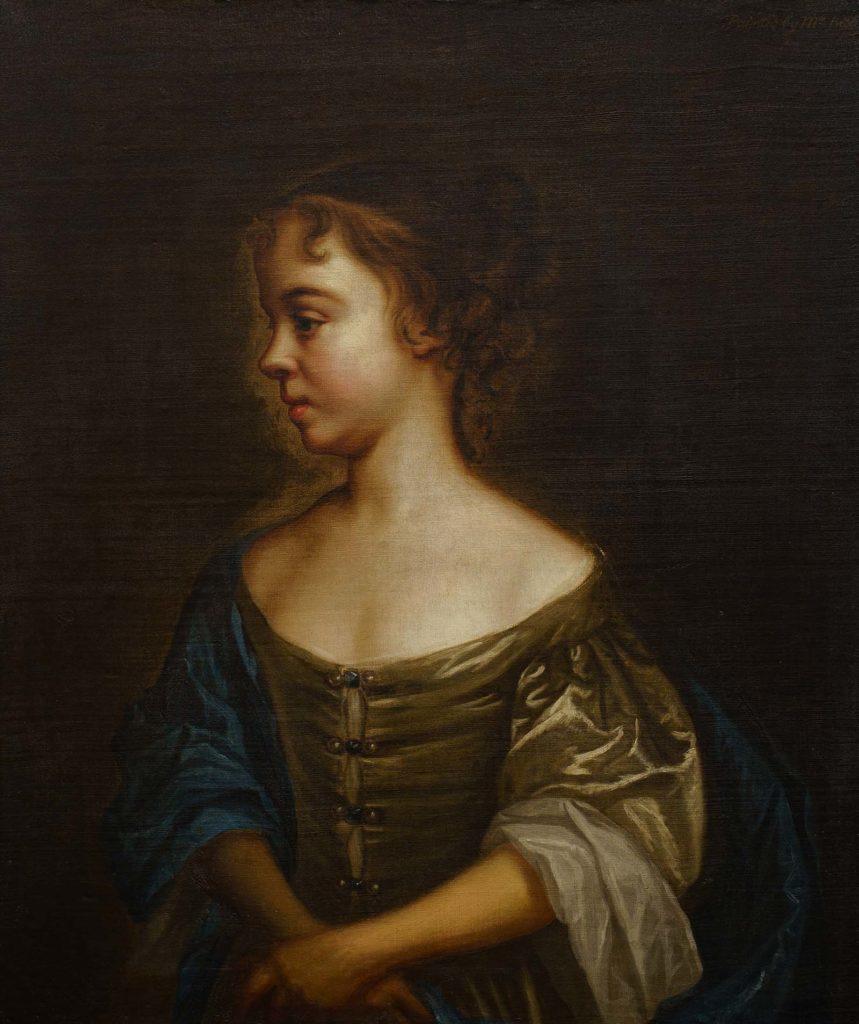 portrait of a girl in side profile
