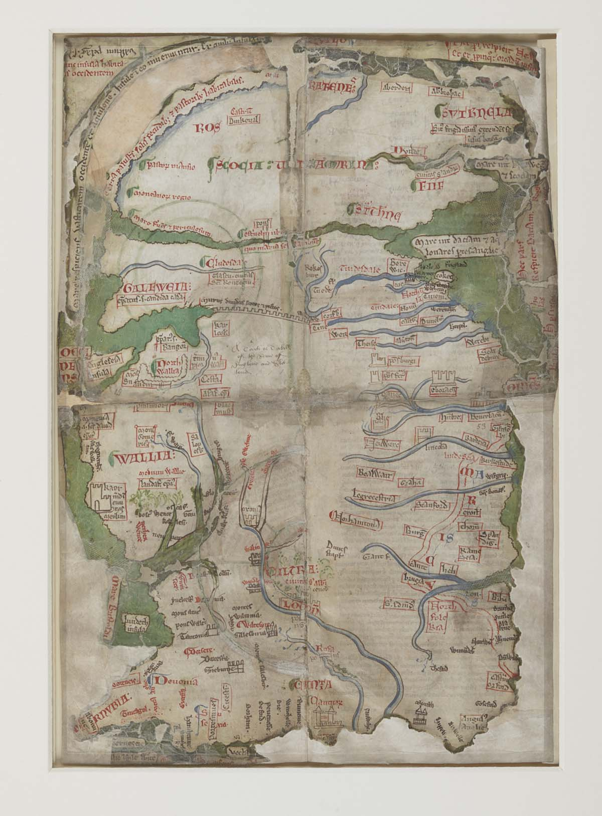 medieval representation of a map of the British Isles