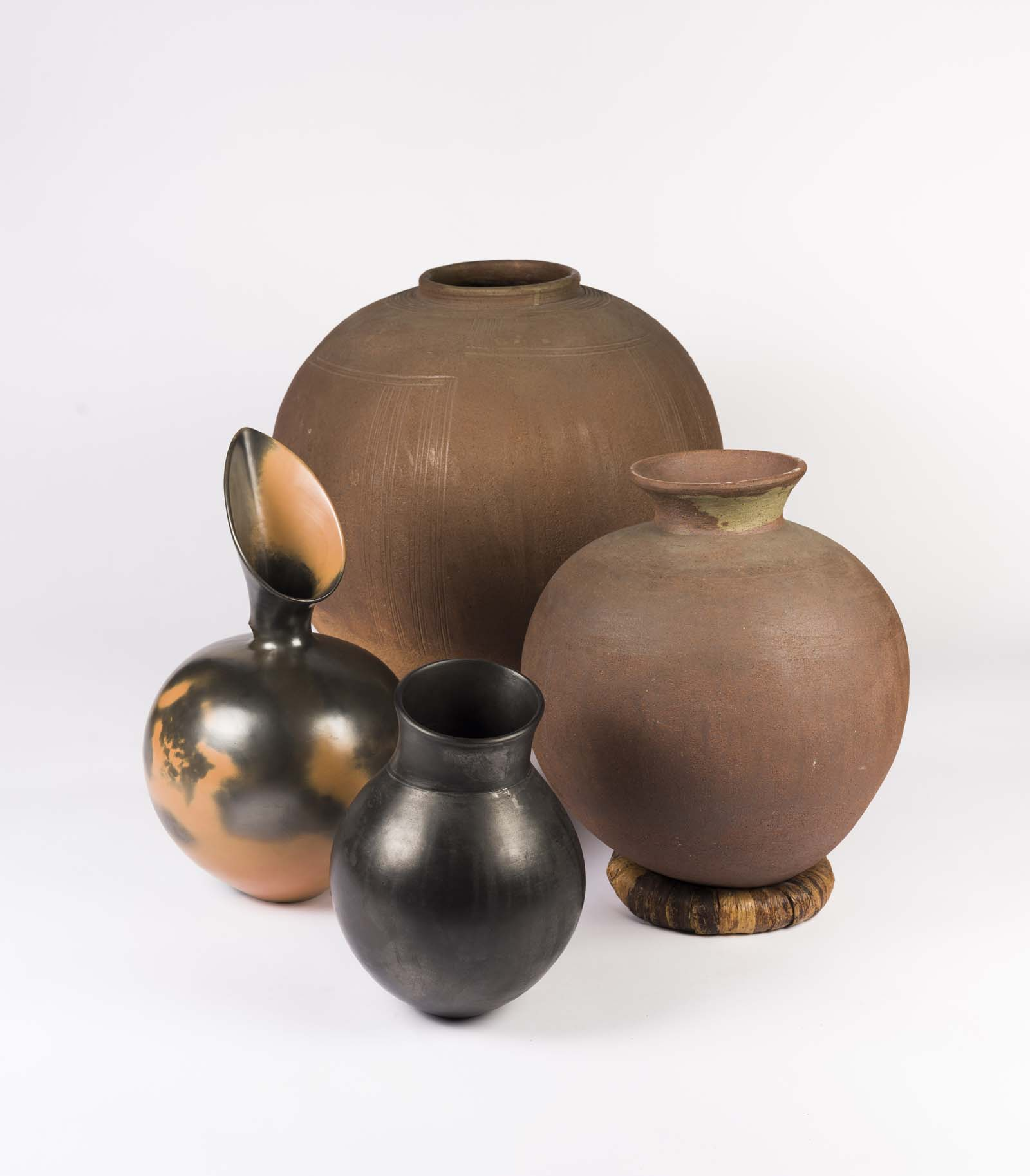 photo of a group of ceramic vessels