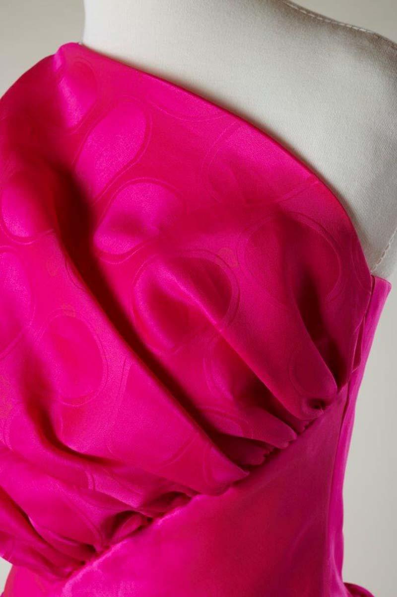 detail of a pink dress
